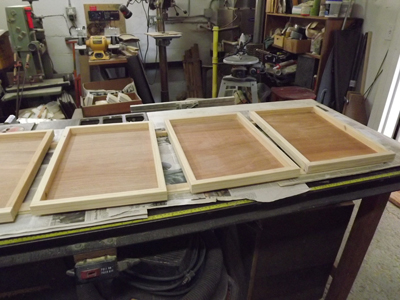 3 out of 8 trays: Pre-polyurethane.