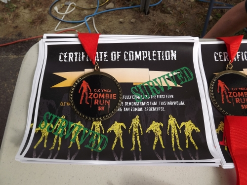 All Humans that crossed the finish line with at least one flag received this certificate.
