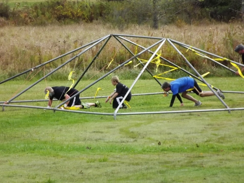 "The first man-made obstacle. A ""spider web."""